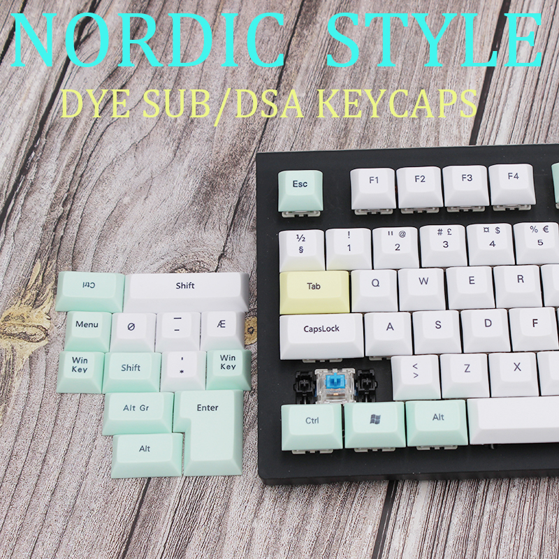 Nordic Character Dsa Keycaps Dye Sub Russian Keyboard PBT Spacebar Cherry Mx Gh60 Iso Custom Logitech Mechanical Gaming Keyboard