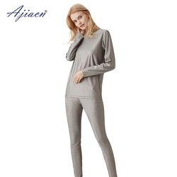 Auténtica ropa interior larga para mujer con POF de radiación, conjunto de comunicación de 5g, sala de monitoreo, protección EMF 100% ropa interior de fibra plateada