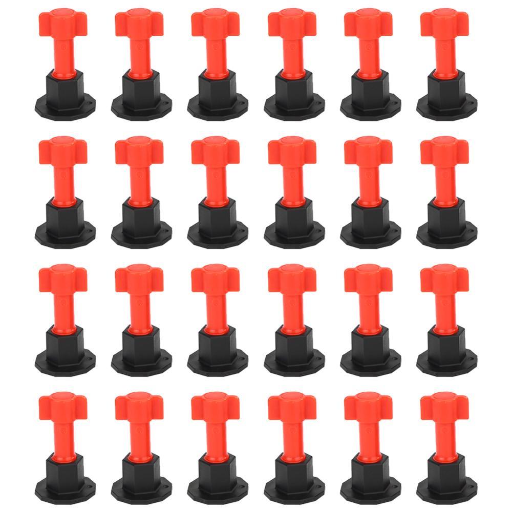 Adeeing nivel cuñas azulejos Spacer para suelos de azulejo de pared muebles sistema cuñas crucetas nivelador de separadores de Plier 100 Uds. Herramientas de construcción de pared de piso de cerámica plana sistema de nivelación de azulejos reutilizable Kit de sistema de nivelación de azulejos