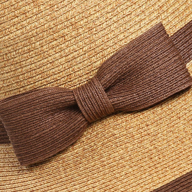 Sedancasesa lato Handmade łuk słomkowy kapelusz kobiet Garland sunbonnet kapelusz typu bucket roll-up hem czapka plażowa kapelusz słońce dla kobiet SW105082