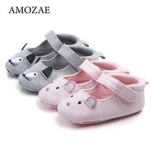 Spring and Autumn Colored Cotton Baby Non-slip Princess Shoes Newborn Baby Girl Shoes Cute Animal Pattern Baby Toddler