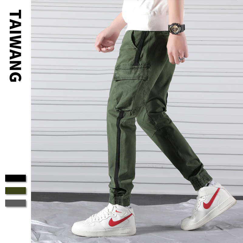 Men Popular Brand Bib Overall 2019 Spring New Style Europe And America Youth Bags Loose Harem Pants Cool Skinny Pants