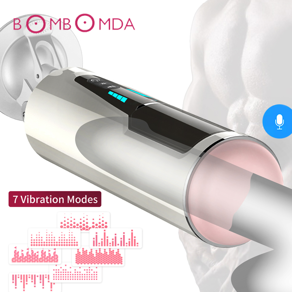 Automatic Piston Telescopic Rotation Male Masturbator for Men Sex Toys Artificial Vagina Pussy Vibrator Oral Blowjob Sex Machine