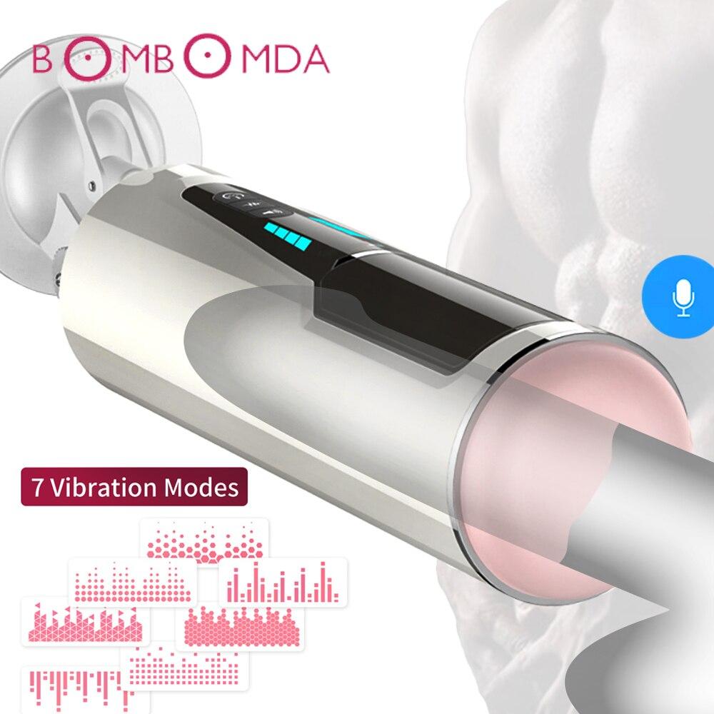 Automatic Piston Telescopic Rotation Male Masturbator For Men Sex Toys Artificial Vagina Pussy Vibrator Oral Blowjob Sex Machine