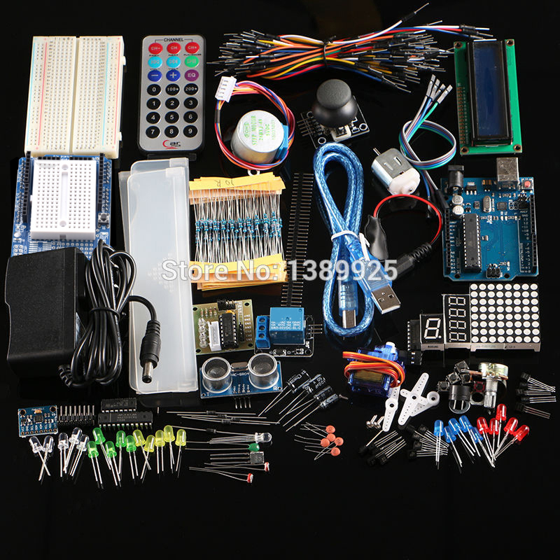 Ultimate kit Hc-sr04 Ultrasonic Sensor/Step Motor/ Servo /1602 LCD / R3 board starter Kit  With Retail box