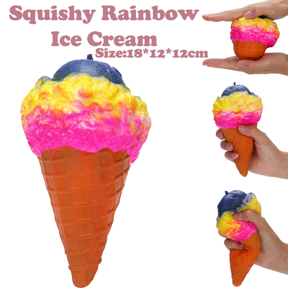 Toys For Children 18cm Colossal Ice Cream Squishies Slow Rising Squeeze Scented Stress Relieve Toy Kids Toys Juguetes Para Ninos