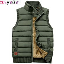 Autumn Winter Warm Men Vest Jackets Coat 2019 Casual Men's Sleeveless Tactical Jacket Fleece Army Green Waistcoat Plus Size 5XL etonweag brand leather backpack men school backpacks for boys black luxury school bags big capacity barrel shaped travel luggage