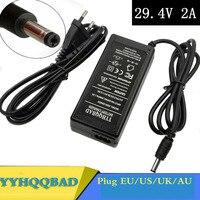 YYHQQBAD 29 4 V 2A cargador 24V 25 2 V 25 9 V 29 4 V 7S batería de litio de 29 4 V cargador de e-bike cargador DC 5 5*2 1 MM US/EU/AU/UK