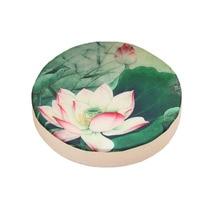 Lotus Pattern Sitting Cushion Round Sponge Washable Balcony Window Meditation Tatami Mat