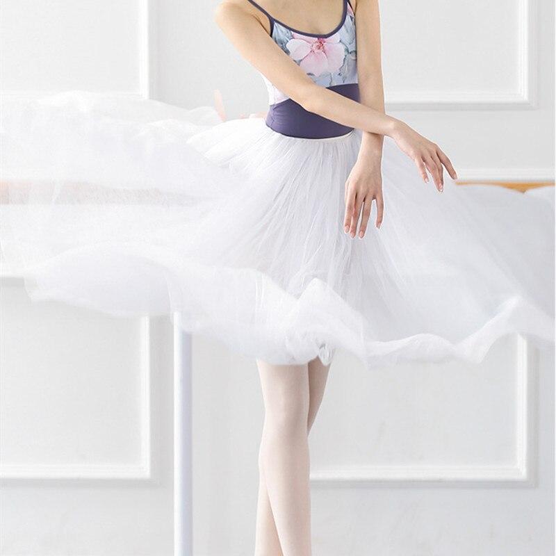 The New Back Bow Four-layer Long Gauze Skirt Ballet Skirt for Adult Women's Skirt Dance Uniforms