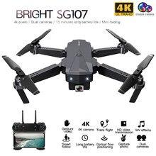 Zlrc sg107 mini zangão com 4 k wifi 1080 p fpv câmera 2.4 ghz quadcopter fluxo óptico quadrocopter câmera brinquedos vs e58 e68 sg106