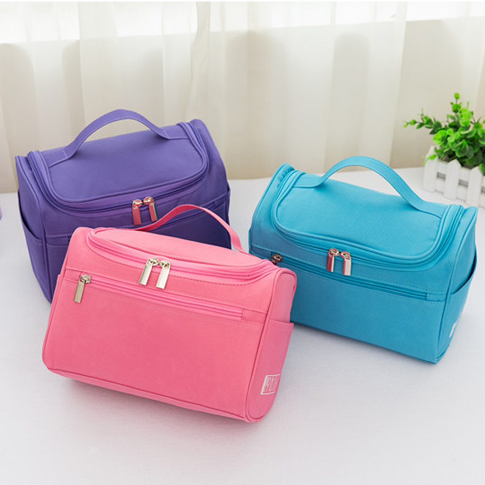 Portable Beach Swimming Swimsuit Storage Bag Multi-Functional Ladies Waterproof Zipper Cosmetic Bath Bag Handbag Wash Pouch