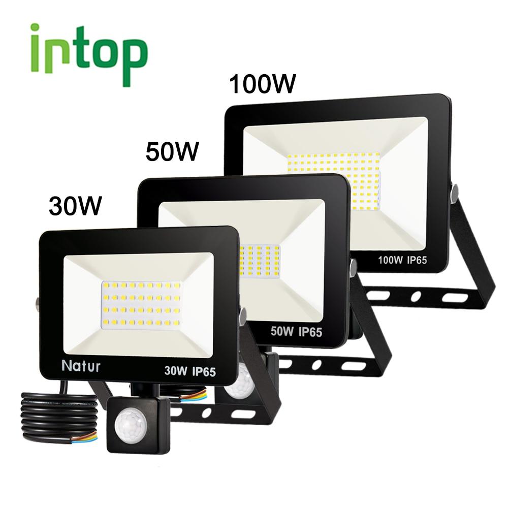 Motion Sensor Led Flood Light 220V10W 30W50W100W150W IP65 Outdoor Led Spotlight Wall Lamp Reflector Led Waterproof FloodLight
