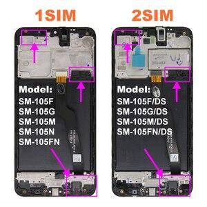 Image 2 - Дигитайзер сенсорного экрана в сборе с рамкой для Samsung Galaxy A10 A105 LCD A105F, запасные части для ремонта A10 LCD