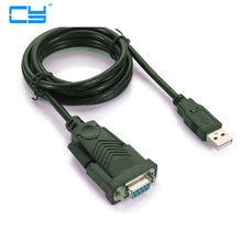 Usb rs232 femea cable3ft da porta usb 2.0 para série db9 femea 9 carros com cabo de computação 1 m novo com o driver de