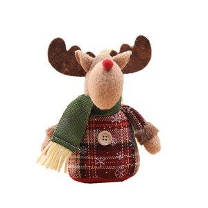 Рождественские куклы выдвижной Санта Клаус снеговик игрушки рождественские фигурки Рождественский подарок для малыша красный орнамент с ...