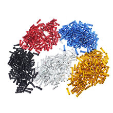50 pçs cabo de bicicleta tampas de extremidade do fio da bicicleta tampas de extremidade do freio desviador shifter cabo dicas crimps mtb bicicleta acessórios