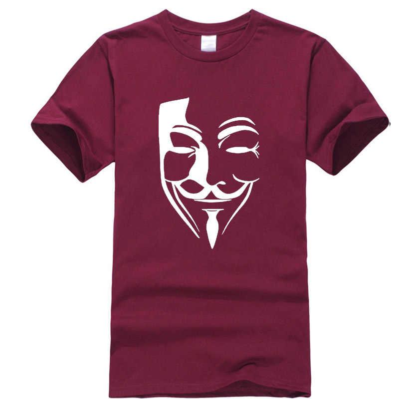 שין יי גברים באיכות גבוהה 100% כותנה חולצה אופנה מזדמן V מילת vendetta מותג חולצה הדפסת בגדים מצחיק tshirts גברים
