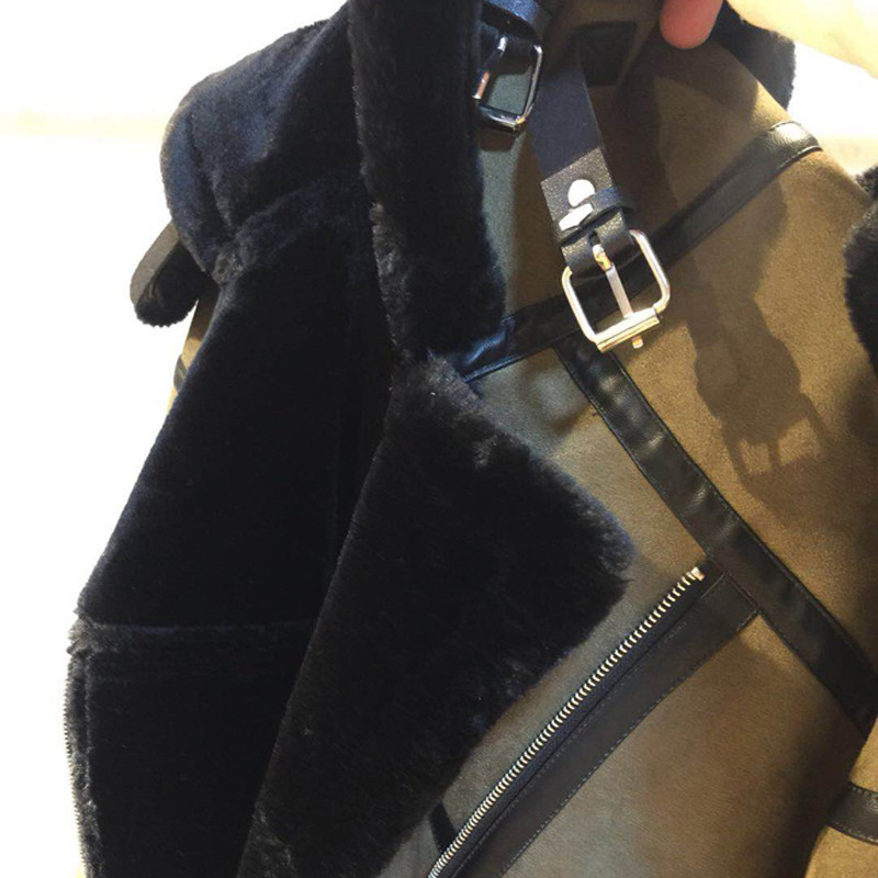 Vintage Fashion Hooded Women Fur Jackets Casual Winter Fur Coat Automotive Fur Leather Jacket Coat Woman Streetwear Brand A899