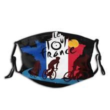 França bandeira le tour-de-france tour de omã 2017 diy máscara para rosto moda reutilizável máscara facial crianças uxury designer máscara facial