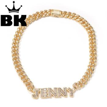 13mm Bagnette Zircon MiamiCuban Link Necklace Weld Letter Plated Luxury Copper Micro Paved CZ Cuban Joining together Chain