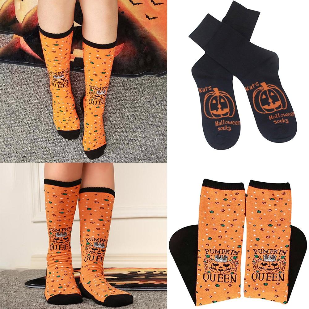 Autumn Winter Casual Cotton Dress Socks Fashion Colorful Halloween Cosplay Cotton Crew Socks Happy Long Socks D40