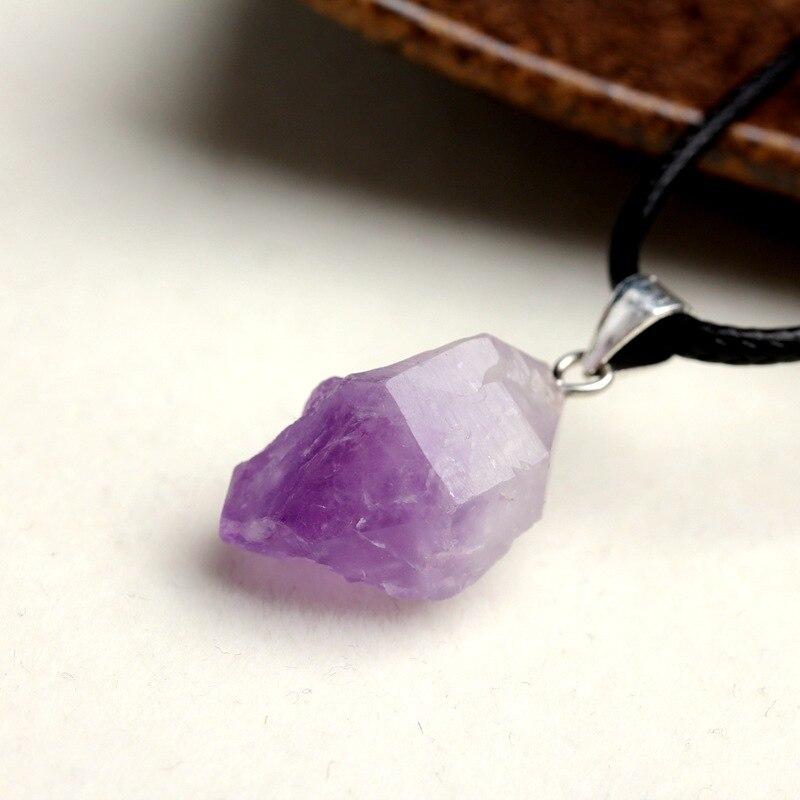 Натуральный камень кулон Цепочки и ожерелья Бразилия кристаллы аметиста Druzy нерегулярные Форма бледно-лиловый полудрагоценные чакра рейки...
