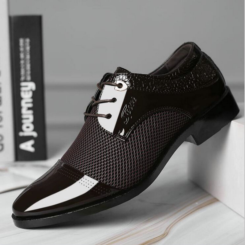 New Arrival Men Formal Slip On Shoes Pu Leather Flat Shoes  Sapato Social Masculino Male Business Shoes A53-16