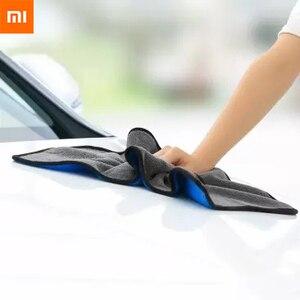 Image 1 - Xiaomi Youpin Nanofibre di Pulizia Asciugamano No Segni di Acqua Non Danneggia La Vernice Auto Tovagliolo di Lavaggio