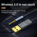 Беспроводной Автомобильный приемник Bluetooth 5,0 адаптер 3,5 мм разъем аудио Громкая связь телефонные звонки AUX музыкальный приемник для дома ТВ ...