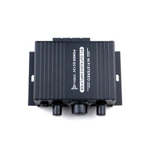 Image 4 - AK170 12V Mini amplificador de Audio para coche, receptor de Audio Digital AMP doble canal 20W + 20W bajo triple Control de volumen para uso en el hogar