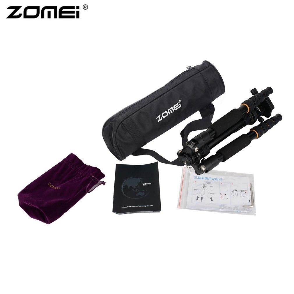 Zomei, trípode de cámara de viaje portátil profesional, monopié de aluminio ligero con cabeza de bola de 360 grados para cámara DSLR Canon