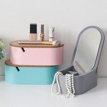 Многофункциональная коробка для хранения ювелирных изделий, шкатулка с зеркалом большой емкости Спальня прикроватный столик Ванная комната для рабочего стола, Дисплей украшение дома