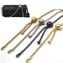 130cm Long Metal Shoulder Bag Strap Transfer Bead Bag Handles DIY Replacement Purse Chain for Handbag Belts Bag Accessories