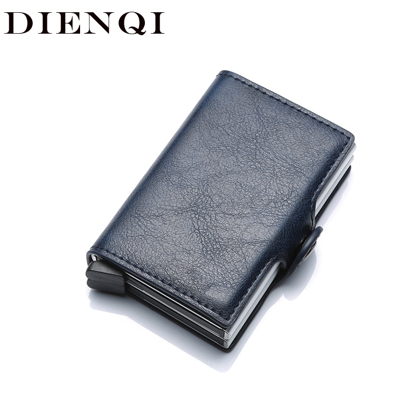DIENQI Top Quality Wallets For Men Short Rfid Card Wallet Money Bag Mini Purse Male Aluminium Small Wallet Men Thin Vallet Walet
