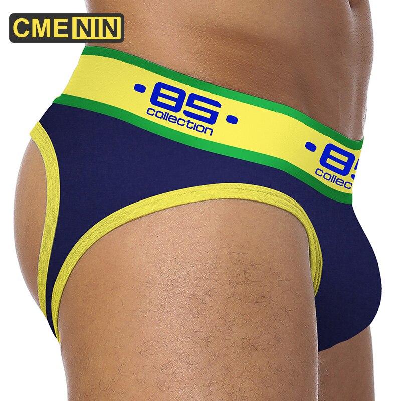 BS de los hombres de la marca de suspensorio gay ropa interior Sexy hombres ropa interior pene bolsa empujar cadera hombres tanga cadena homme tanga deportistas BS181
