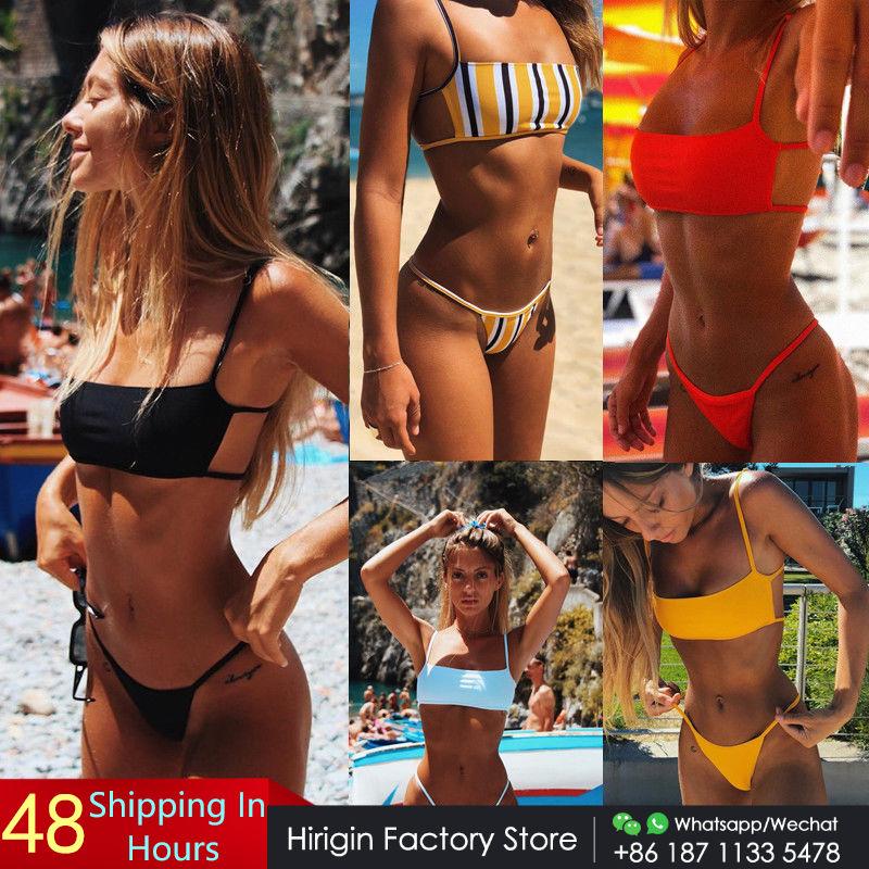 Hirigin Sext Thong Bikini Set Women Swimwear 2019 New Push Up Padded Brazilian Beachwear Biquini Swimsuit Women Bathing Suit(China)