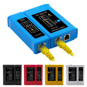 New Professional RJ45 Cable lan tester Network Cable Tester RJ45 RJ11 RJ12 CAT5 CAT6 UTP LAN Cable Tester Networking Tool professional network cable tester rj45 rj11 rj12 cat5 utp lan cable tester detector remote test tools networking white