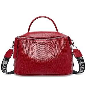 Image 3 - ブリッグス本物の牛革女性のハンドバッグのファッションかばん女性のショルダーバッグトップのための女性の大容量トートバッグ