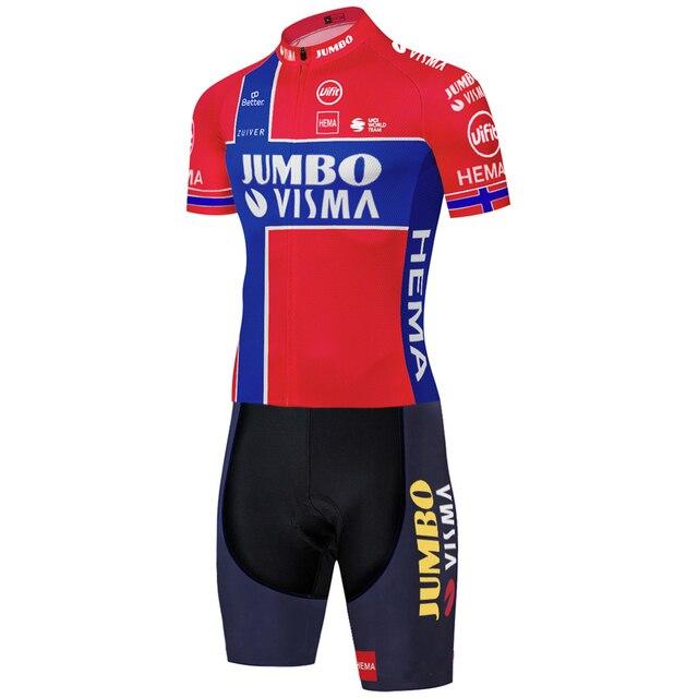 2020 equipe jumbo visma ciclismo skinsuit verão ao ar livre roupas de bicicleta triathlon uniforme 20d gel bodysuit 6