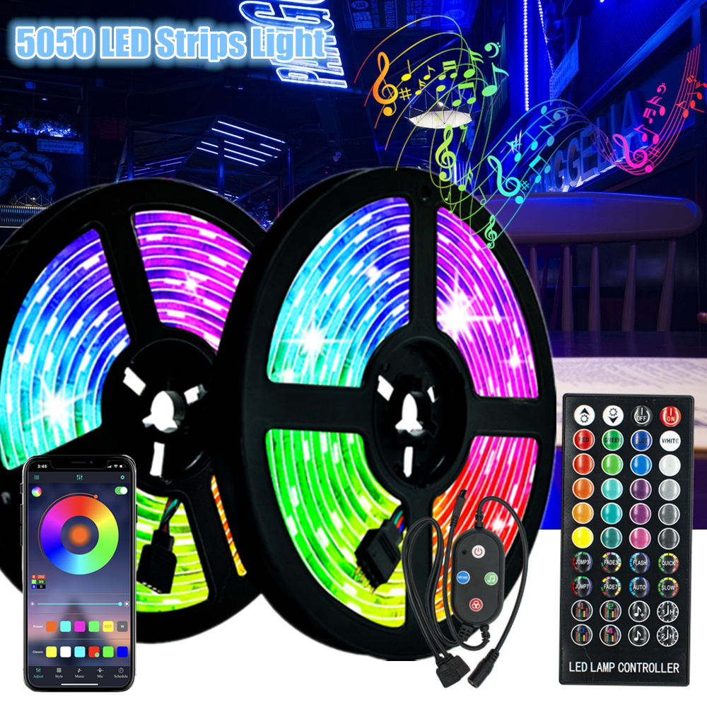 Sound Sensing Led Strips Light 5050 Waterproof Decoration Ribbon Night lighting Infrared Remote Control Flexible Background Lamp