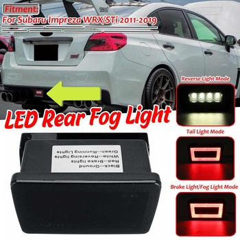 1pc 3 in 1 Car LED Rear Fog Light Brake Backup Reverse Lamp Kit For Subaru Impreza WRX/STi 2011-2019 Tail Brake Light Red/Smoke