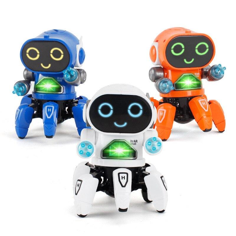 Робот игрушка Интеллектуальный робот Радиоуправляемый мини-Робот Игрушки ходьба пение танцы светодиодный светильник детские развивающие ...