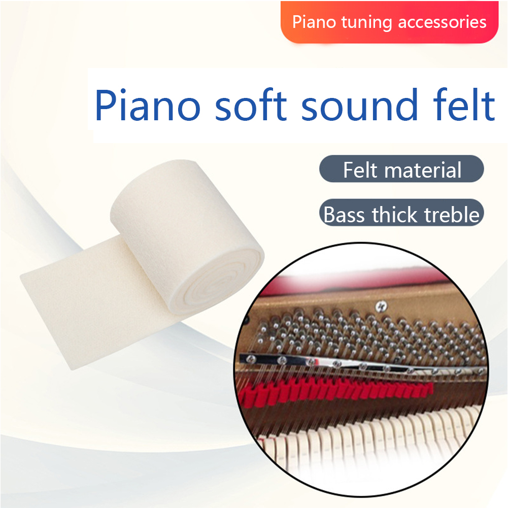 Practice Musical Instrument Tuning Accessories Felt Piano Muffler Thick Bass Weak Sound Repair Parts Keyboard Gradient Process