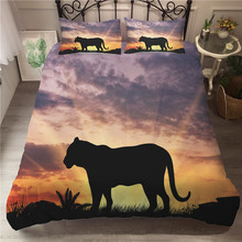 A Bedding Set 3D Printed Duvet Cover Bed Tiger Home Textiles for Adults Bedclothes with Pillowcase #LH11