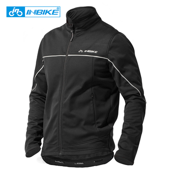 INBIKE Winter Men Cycling Clothes Windproof Thermal Warm Bicycle Apparel Riding Coat MTB Road Bike Clothing Outdoor Sport Jacket arsuxeo winter keep warm cycling coat waterproof windproof bicycle jacket sport breathable mtb jackets bike clothing