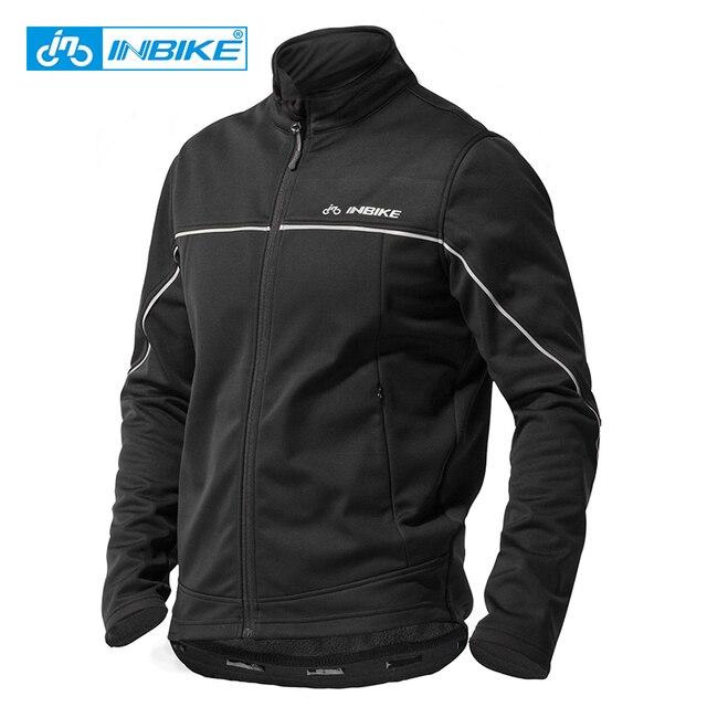 INBIKE inverno uomo abbigliamento da ciclismo abbigliamento da bici caldo termico antivento cappotto da equitazione MTB abbigliamento da bici da strada giacca sportiva allaperto