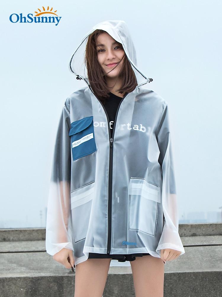 Scooter Nylon Raincoat Women Transparent Travel Hiking Ladies Hooded Raincoat Overall Outdoor Impermeable Thin Rain Coat JJ60YY
