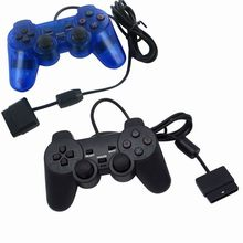 2020 siyah oyun denetleyicisi e n e n e n e n e n e n e n e n e n e şok Joypad Pad Sony PS2 Playstation 2 için WinXP/Win7/Win8/win10 Vista için siyah Gamepad