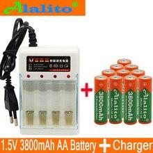 Бренд AA перезаряжаемая батарея 3800mah 1,5 V Новая Щелочная перезаряжаемая батарея для led светильник игрушка mp3 с зарядным устройством